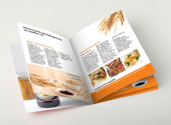Booklet about Kikkoman`s soy sauce - the universal spice