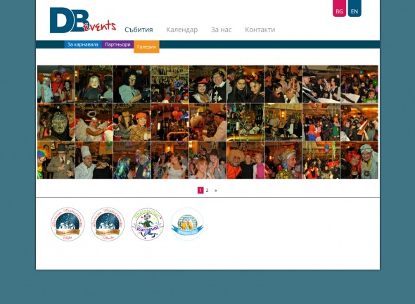 Company website DB Events Ltd