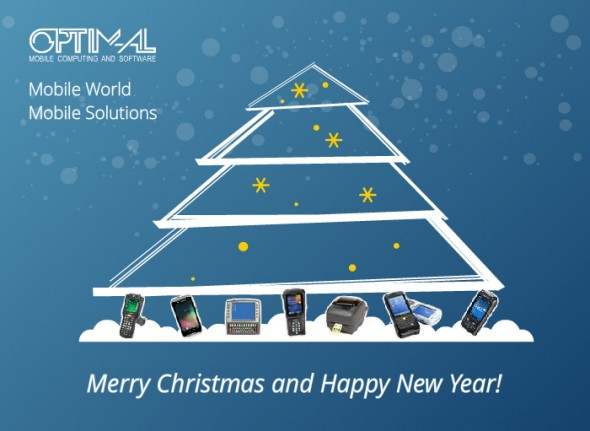 Christmas greeting card for Optim al LTD