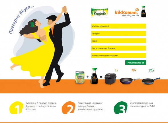 Promo site and campaign VK Commercial for Bonduelle and Kikkoman