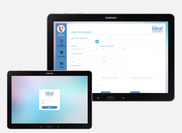 Ideal Partners internal reporting system for tablet