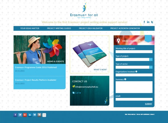 Site for Erasmusplus for all