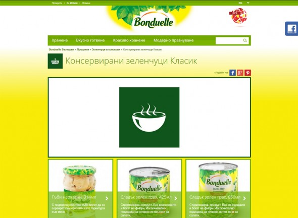 Copywriting for website for french vegetables and recipes