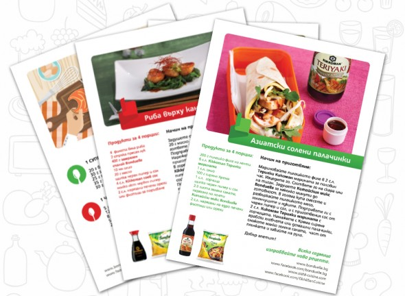Print materials design for Bonduelle and Kikkoman Copromotion 4