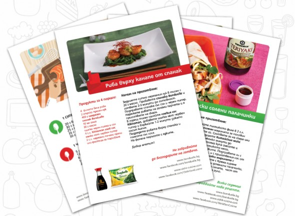 Print materials design for Bonduelle and Kikkoman Copromotion 5