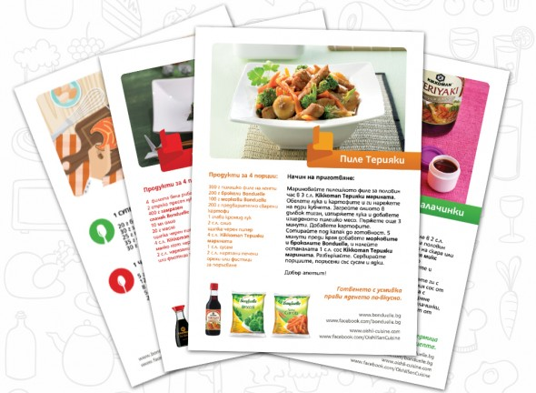 Print materials design for Bonduelle and Kikkoman Copromotion 6