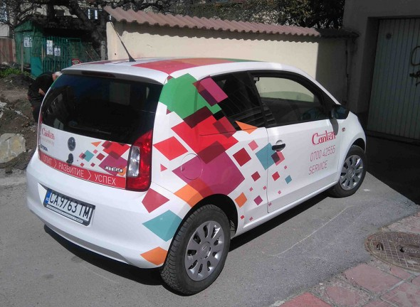 Design and branding of a car for Cantek