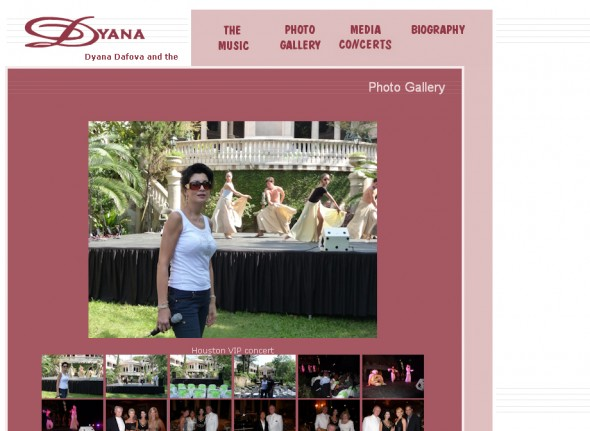 Personal website for the singer - Dyana Dafova 2