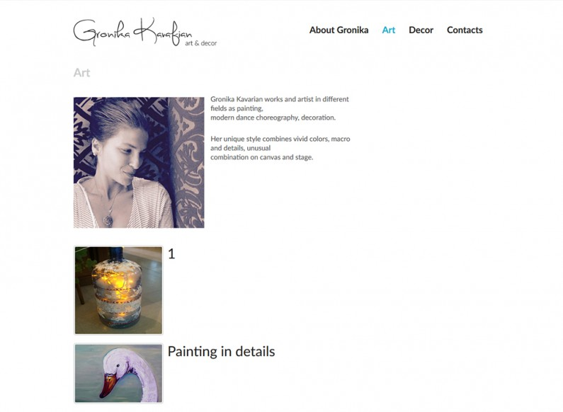The website of artist Gronika Kavarian 2