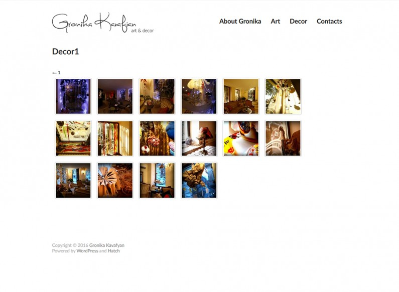 The website of artist Gronika Kavarian 3
