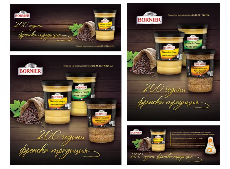 """200 years of French tradition"" - anniversary campaign of Bornier mustard"