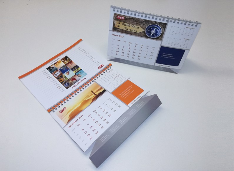 Design of corporate calendars and notebooks for FTS Bulgaria 3