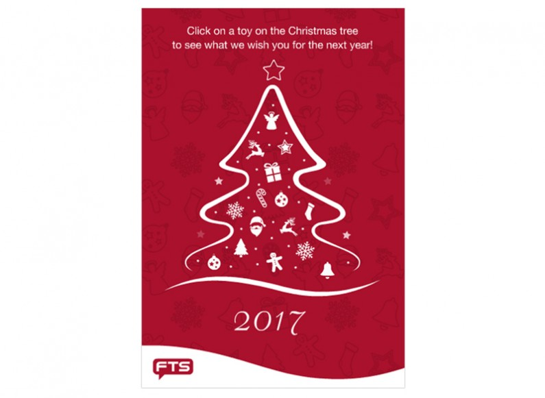 Design of christmas card for FTS Bulgaria