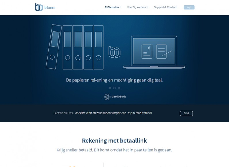 Front end and responsive programming for our Dutch partner Bluem