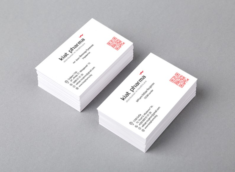 Design of business card for Kiat Pharma
