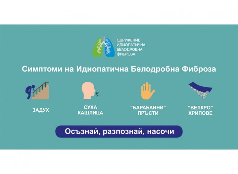 Support of the corporate profile of Idiopathic Pulmonary Fibrosis Association Bulgaria in Facebook