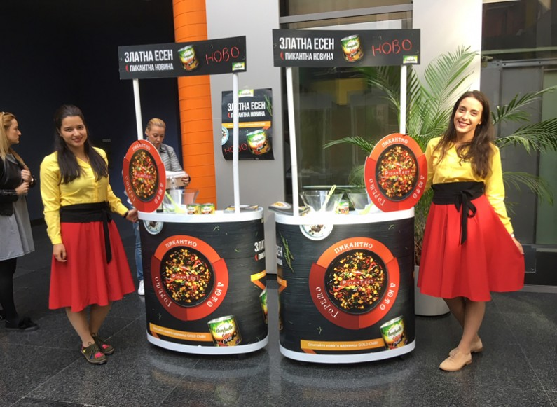 Tastings in business centres for Bonduelle Corn Chilli Campaign