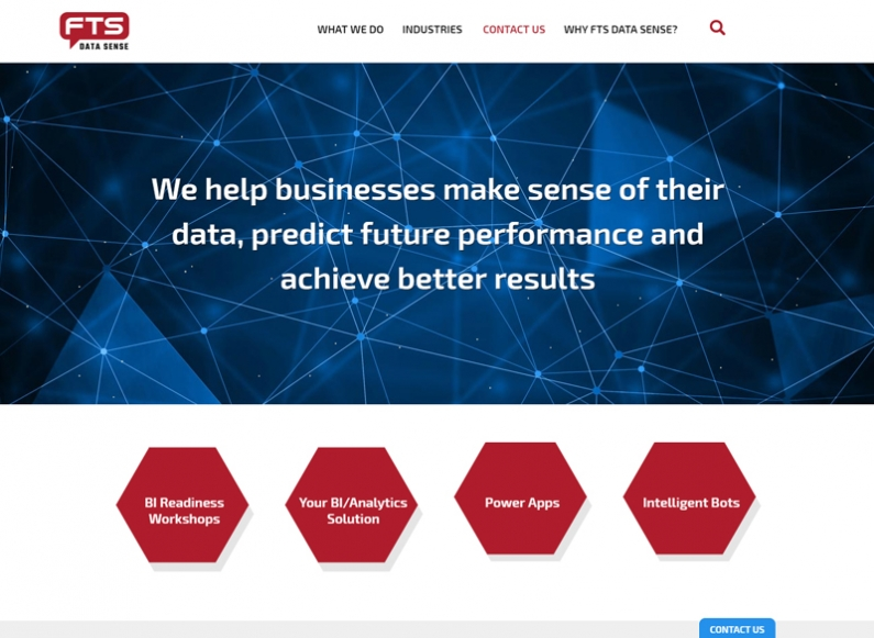 Creating a website for company FTS Data Sense 1