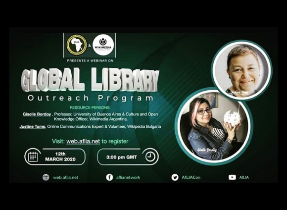 "Webinar - AFlia training ""Global Library"" for Africa"