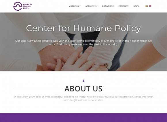 Development of a website for the Center for Humanitarian Policies Foundation