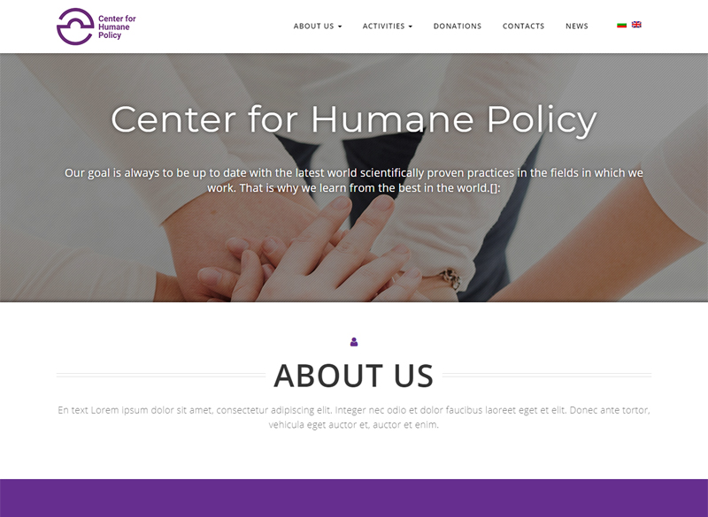 Development of a website for the Center for Humanitarian Policies Foundation 1