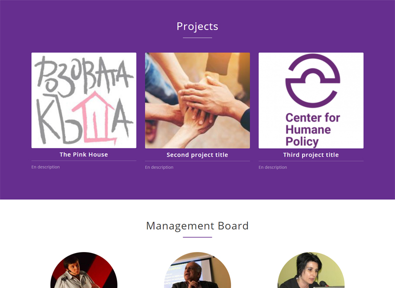 Development of a website for the Center for Humanitarian Policies Foundation 2
