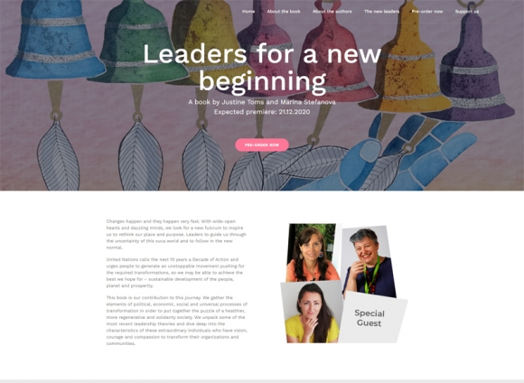 Website development for the book: Leaders for a new beginning