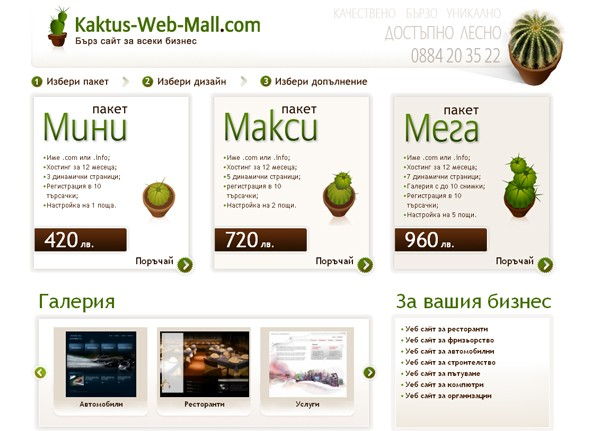 Kaktus Web Mall 1