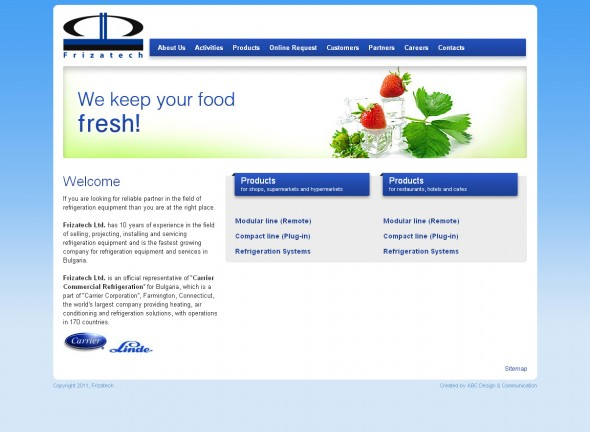 Corporate website of Frizatech Ltd.